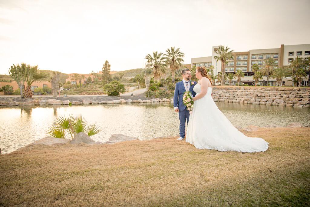 A British Ballgown for a Spanish Style Wedding